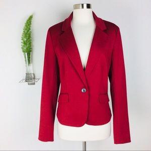 LOFT Ann Taylor Beautiful Red Blazer Size (10)